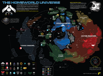 Map of the homeworld universe by norsehound