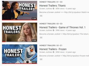 Highest viewed honest trailers
