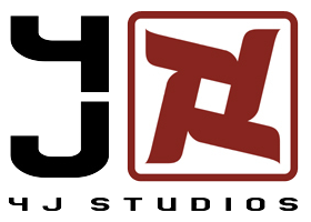 4J studios logo