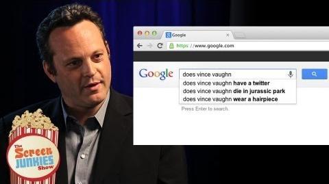 Vince Vaughn Googles Himself!