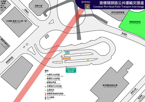 Container Port Road Public Transport Interchange layout map 20181021