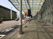 Terminal 2 bus stop view 1