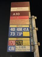Cityflyer bus stop show change other bus routes to Hong Kong-Zhuhai-Macao Bridge