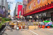 Nathan Road roadblock 20140929