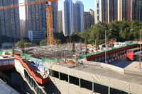 Construction Works on Tsing Yi Station Bus Terminus 20160207