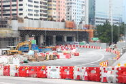 Nam Long Shan Road under MTR temp rd 20121001