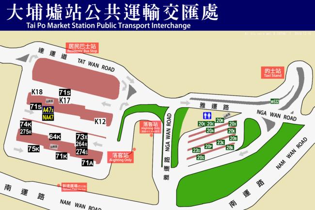 Tai Po Market PTI map