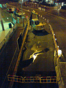 Tai Hang Tung Road water pipe burst 1