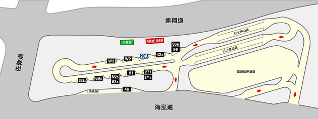 West Kowloon Station BT layout map
