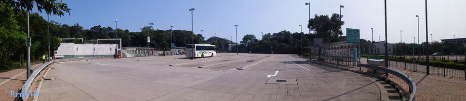 Ngong Ping Bus Terminus Panorama 201505