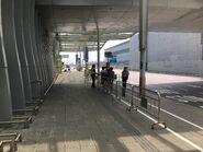 Terminal 2 bus stop view 3