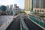 Hoi Wang Road outside West Kowloon Station Bus Terminus 1