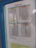 Skyline Tower shuttle timetable 2011