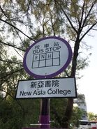 New Asia College for CUHK 8 N H bus stop 04-04-2018