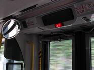 Bus stopping lamp ATE door