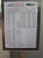 NR327 timetable eff 20130101