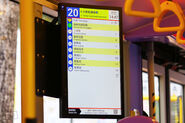 Dynamic Bus Stop Display Panel LECIP stop list ETA route 201804
