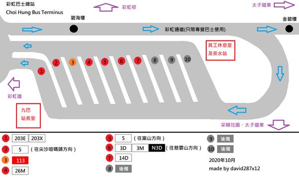 彩虹總站平面圖