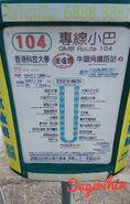 NTGMB 104 Route Info