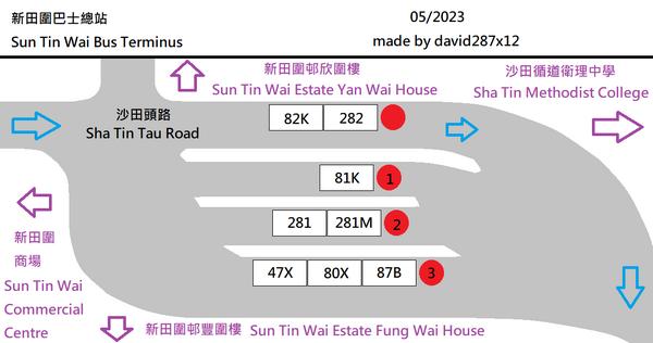 新田圍巴士總站平面圖