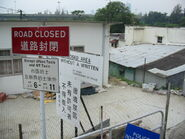Closed road Lok Ma Chau