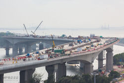 Hong Kong-Zhuhai-Macao Bridge Hong Kong Link Road 201708