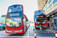 KMB Red bus experience day photo booth and special display