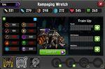 Rampaging Wretch 1-1* resistances
