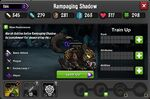 Rampaging Shadow 1-1* stats