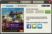 Friend Code Add Screen