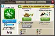 Guild Tabs - Overview Donate above lvl 5