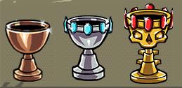 Achievements trophies