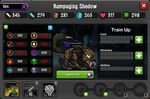 Rampaging Shadow 1-1* resistances