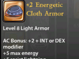 +2 Energetic Cloth Armor