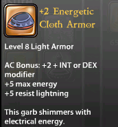 2 Energetic Cloth Armor