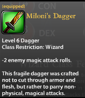 Miloni's Dagger