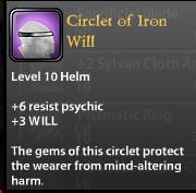 Circlet of Iron Will
