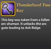 Thunderhoof Pass Key