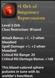 1 Orb of Sanguinary Repercussions