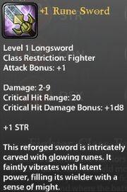 1 Rune Sword