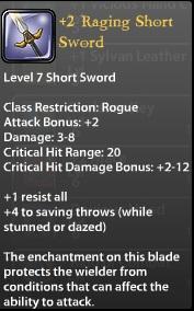 2 Raging Short Sword
