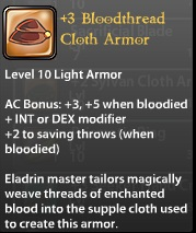 3 Bloodthread Cloth Armor
