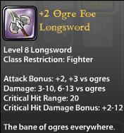 2 Ogre Foe Longsword