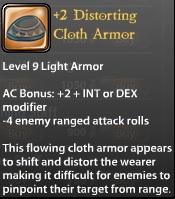 2 Distorting Cloth Armor