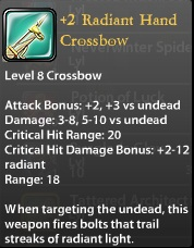 2 Radiant Hand Crossbow