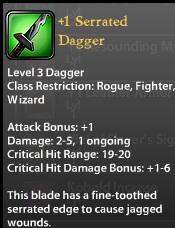 1 Serrated Dagger