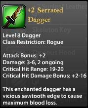 2 Serrated Dagger