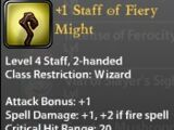 +1 Staff of Fiery Might