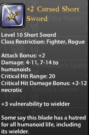 2 Cursed Short Sword