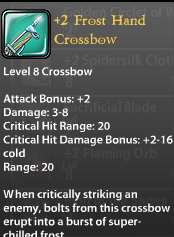 2 Frost Hand Crossbow